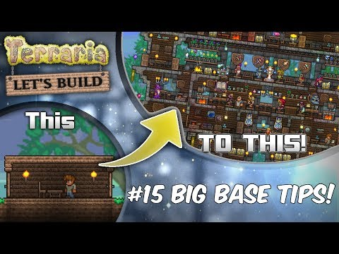 Terraria Let's Build Part 15 | BIG BASE BUILDS! | Easy to use design! | PC | Console | Mobile