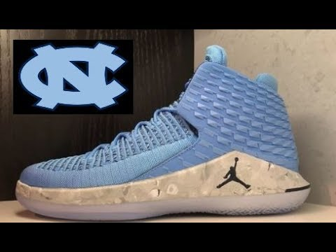 f5f423c571c3f7 AIR JORDAN XXXII 32 UNC TAR HEELS PE SNEAKER REVIEW + YOUTUBE RANT ...