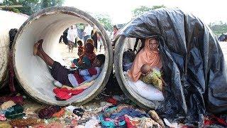 あふれるロヒンギャ難民、42万1千人 食料も住む場所も足りず ロヒンギャ 検索動画 18