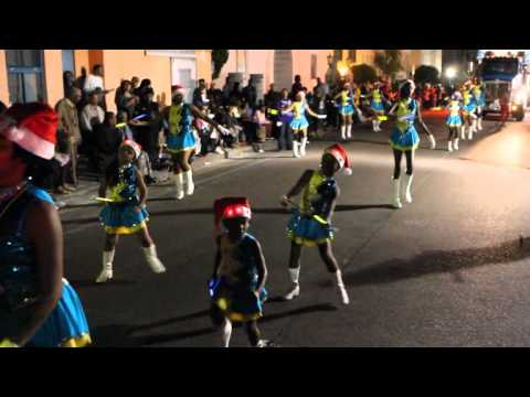 Devonshire Ultimate Star Twirlers At Santa Parade Hamilton Bermuda November 27 2011