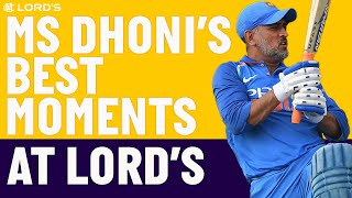 The Best of MS Dhoni at Lord's! | England v India | Lord's