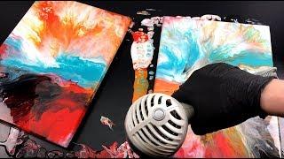 Dutch pour Week - duo dutch pour -  Fluid art with hair dryer - 5 of 5