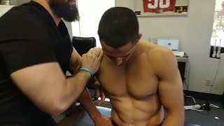 Download Wrestling Legend Aaron Pico gets LOUD chiropractic adjustment and trigger point Mp3 and Videos