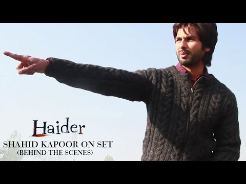 Haider |  Shahid Kapoor On Set | Shraddha Kapoor | Behind The Scenes