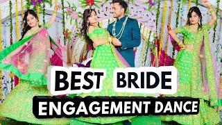 Bride's Surprise Engagement Dance || Best Indian wedding dance - 2018(Bollywood & Punjabi dance)