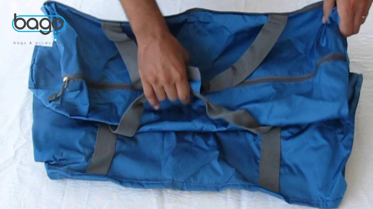 How To  Fold   Unfold Duffle Bag. Bago Travel Bags de4953af5289a