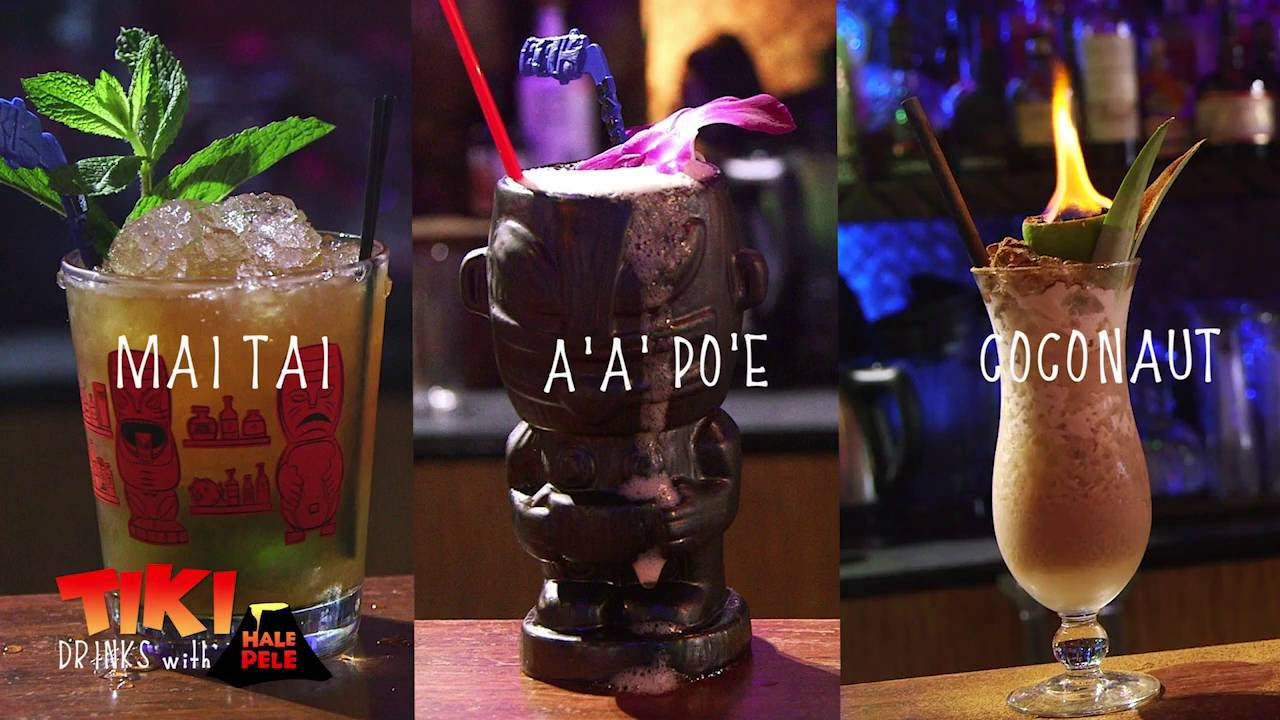 3 tiki drink recipes from hale pele tiki bar youtube for Top bar drink recipes