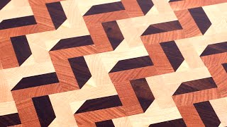 Making An Inlaid 3d End Grain Cutting Board #3