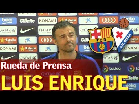 Barcelona - Eibar | Rueda de prensa de Luis Enrique | Diario AS