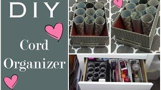 Staying Organized: DIY Cord Storage!