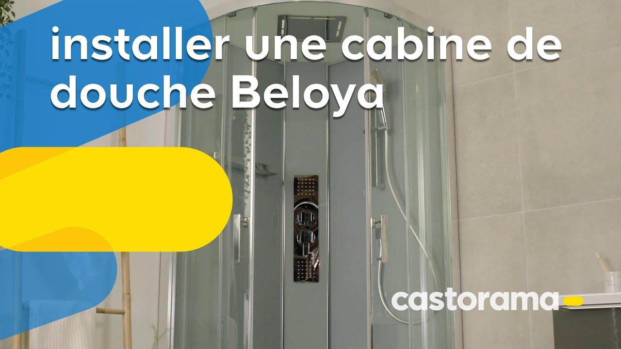 comment installer une cabine de douche beloya goodhome castorama