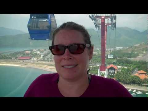 Riding the Cable Car to Vinpearl Amusement Park - Nha Trang, Vietnam