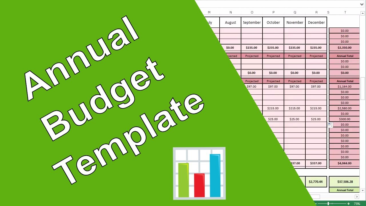 how to create an annual budget youtube