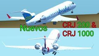 ¡Nuevos CRJ 200 y 1000! | Infinite flight 18.04 en español.
