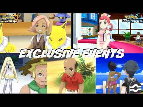 ALL SPECIAL SECRET EVENTS IN POKEMON ULTRA SUN AND MOON PT 1