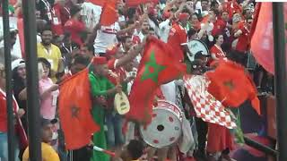 la joie des supporters marocaines apres le but au  al salam stadium egypte  Par Vincent Kamto.avi