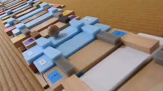 """Stairs Xylophone"" was made. Japanese children's song ""Doggy cop an..."