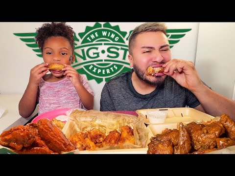 Wingstop Challenge 먹방 • 5,000 Calorie Fried Chicken Feast • MUKBANG