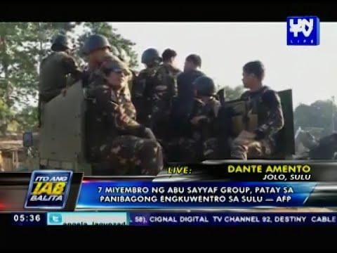 7 Abu Sayyaf members, patay sa panibagong engkwentro sa Sulu — AFP