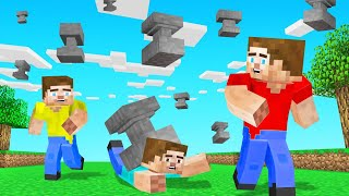 MINECRAFT But ANVILS Are FALLING From The Sky EVERY 10 SECONDS!