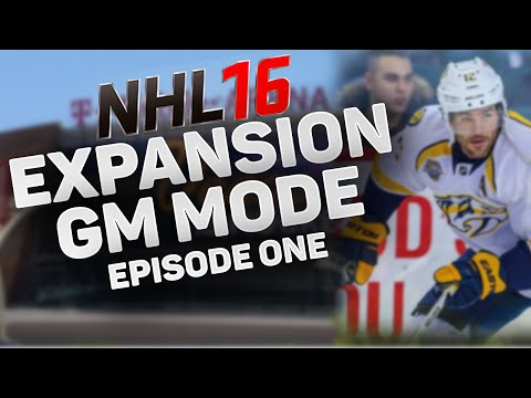 NHL 16: Expansion Team GM Mode – SEASON 1