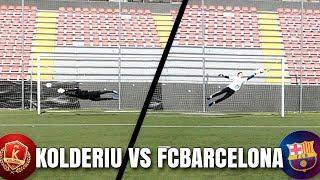 PORTERO DEL FC BARCELONA VS PORTERO DE TERCERA!!