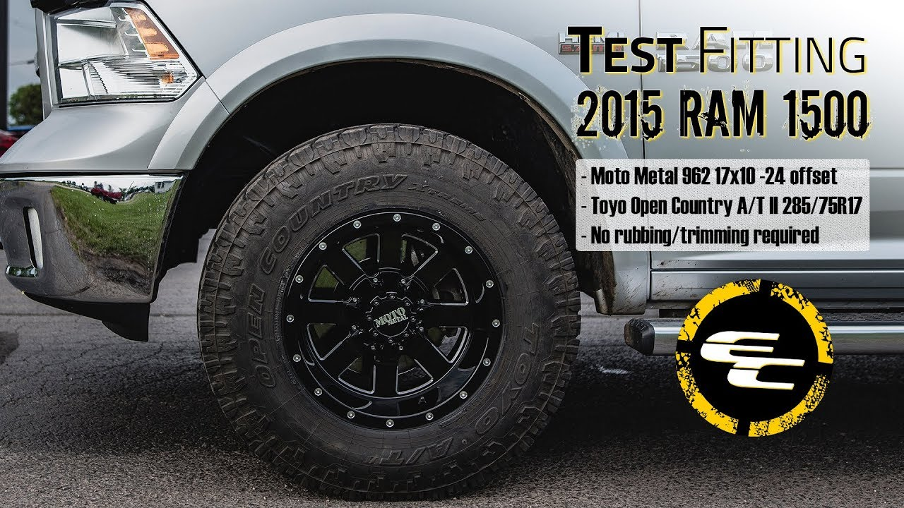 Test Fitting 2015 Ram 1500 w 17 quot Moto Metal 962 amp 34