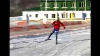 Учимся выполнять коньковый ход на лыжах