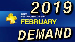 """PS PLUS FEBRUARY 2019 PS+ MARCH 2019 """"NEEDS"""""""