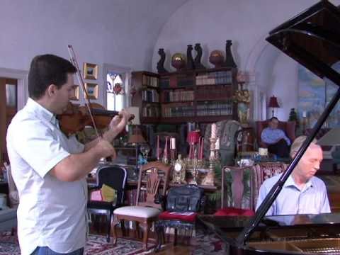Improvising on the violin for a SIC International TV Documentary in 2010. Part 2