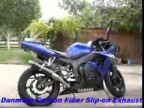 Danmoto carbon fiber exhaust yamaha r6 r6s youtube for Yamaha r6 carbon fiber exhaust