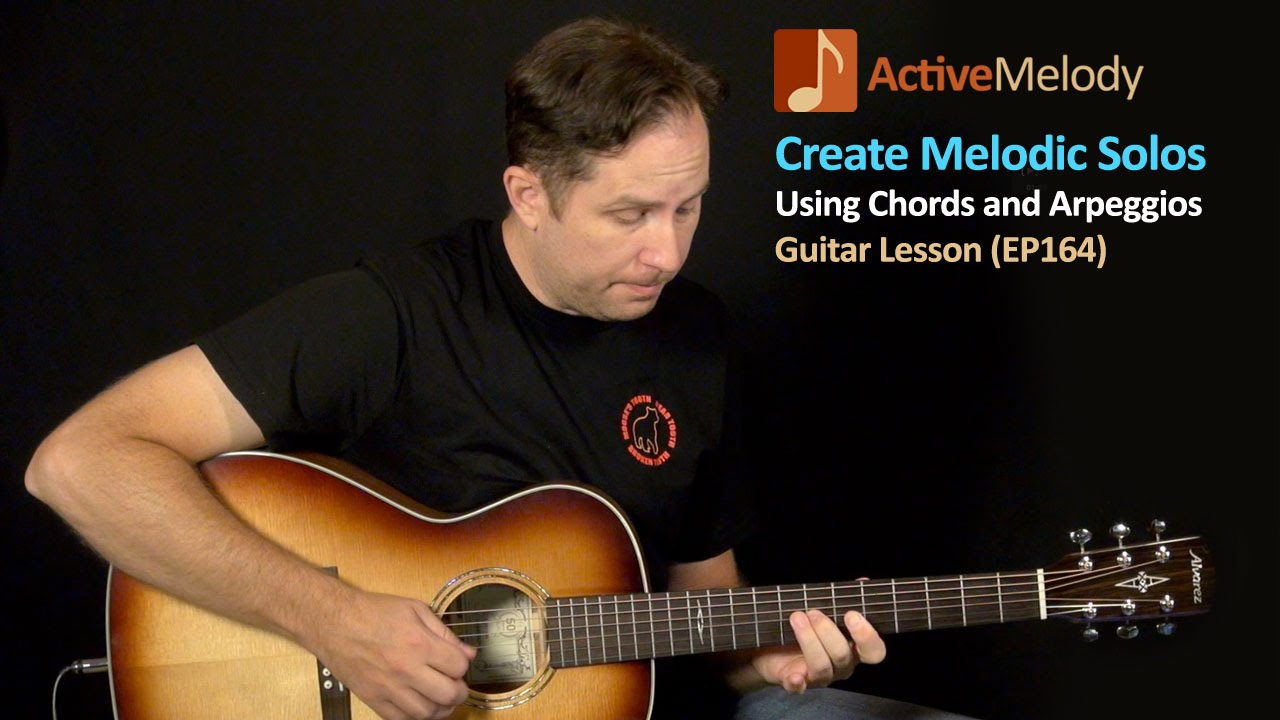 Using Chord Shapes To Create Melodic Guitar Solos Guitar Lesson