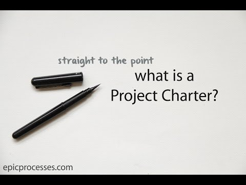 straight to the point: what is a project charter