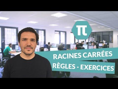 Racines carrées – Règles de calcul - Exercices d'application - Mathématiques