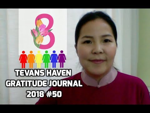 IWD2018 - Internatinal Women's Rights Day - So proud & happy -TevansHaven Gratitude Journal 2018 #50