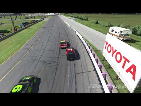 Iracing Lucas Oil Speedway: Last Lap Restart and Fireworks