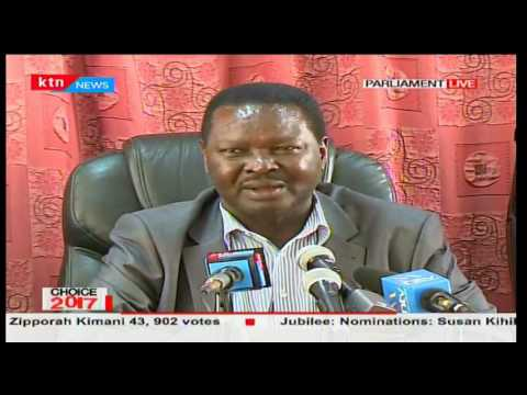 Wiper leaders claims Governor Malombe was declared winner following a lot of rigging