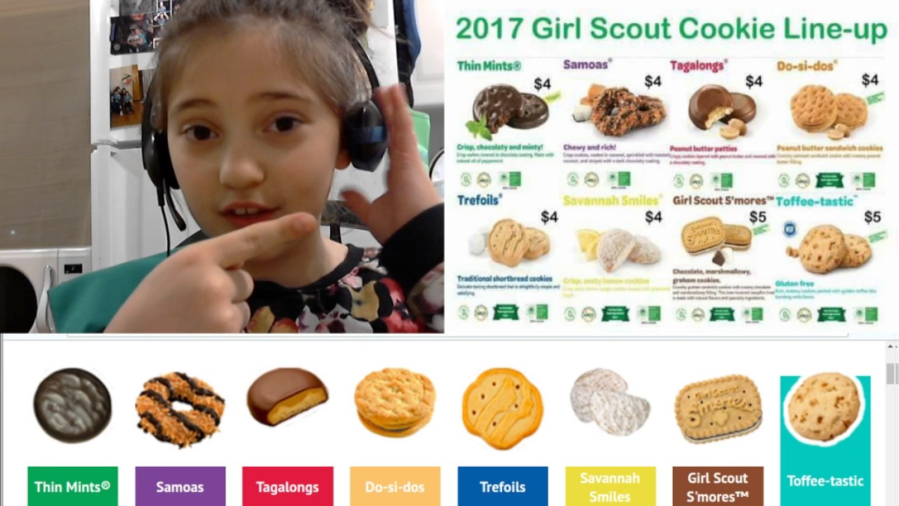 2017 zoie s girl scout cookie video   youtube