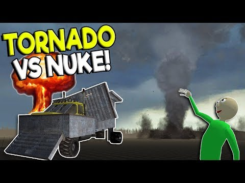 F-5 TORNADO SURVIVAL VS NUKE CHALLENGE! - Garry's Mod Gameplay - Gmod Tornado Chaser Roleplay