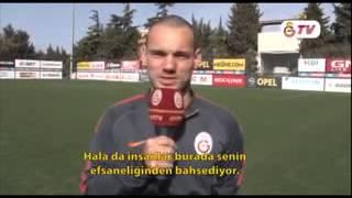 Sneijder'den Gheorghe Hagi'ye Doğum Günü Kutlaması