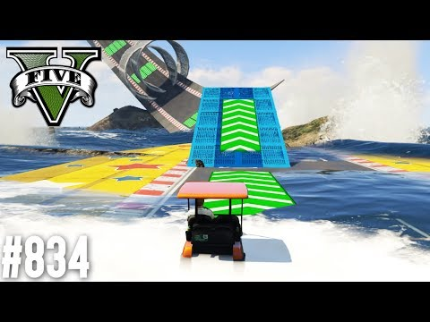 CRAZY CADDIE PARKOUR - TSUNAMI GEFAHR! (+DOWNLOAD) | GTA 5 - CUSTOM MAP RENNEN