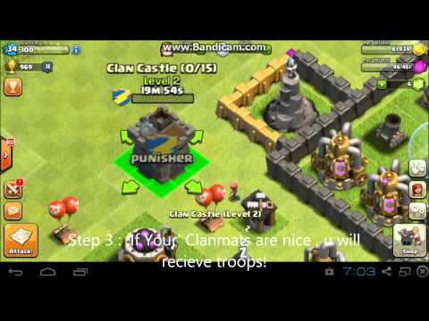 Clash Of Clans How To Request Troops