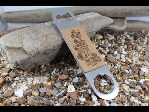 DIY Bottle Opener Pyrography Project - Blood, Sweat & Beers