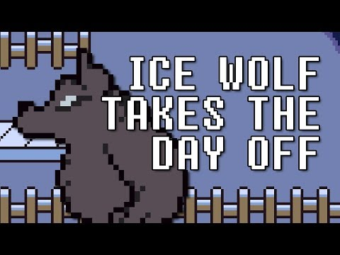 Ice Wolf Takes the Day Off