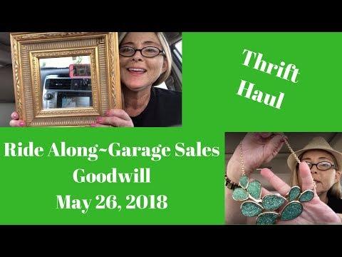 Thrift Haul Ride Along Garage Sales May 26, 2018