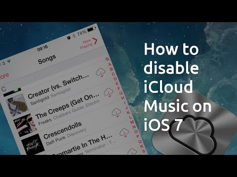 How to show local music only not icloud - Apple iPhone iOS7 Music App