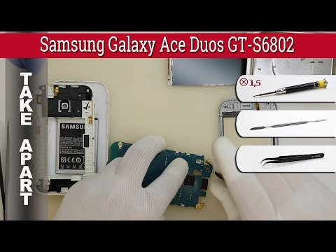 How to disassemble 📱 Samsung Galaxy Ace Duos GT-S6802 Take apart Tutorial
