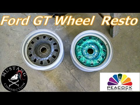 1969 Mustang GT Restoration Styled Steel Wheels Peacock Powder Coating Mustang Connection