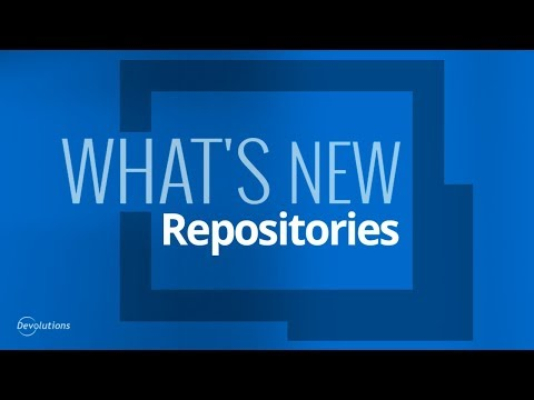What's New in Remote Desktop Manager 14 - Repositories