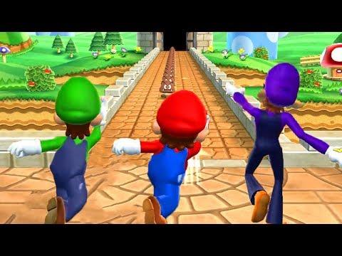 Mario Party 9 - Minigames - Wario vs Luigi vs Mario vs Waluigi (Master CPU)